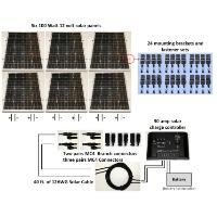 Brand New 600W 24V Solar Panel Complete Kit