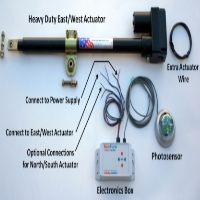 Brand New Heavy Duty Single-Axis Solar Tracker Parts Kit