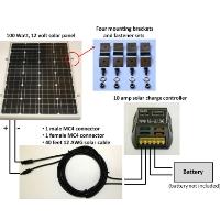 Brand New 100W Solar Panel Complete Kit