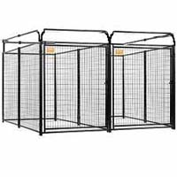 4' x 8' x 6' Multiple Modular Welded Wire Kennel Dog Run for Two Dogs