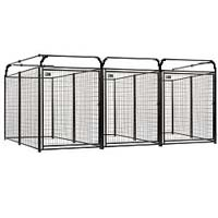 4' x 6' x 6' Multiple Modular Welded Wire Kennel Dog Run for Three Dogs