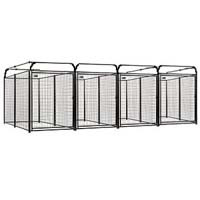 4' x 8' x 6' Multiple Modular Welded Wire Kennel Dog Run for Four Dogs