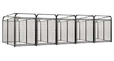 4\' x 6\' x 6\' Multiple Modular Welded Wire Kennel Dog Run for Five Dogs