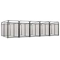 4' x 8' x 6' Multiple Modular Welded Wire Kennel Dog Run for Five Dogs