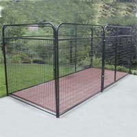 8' x 8' x 6' Basic Wire Modular Dog Kennel