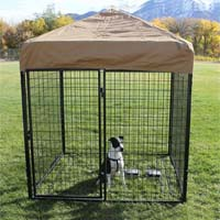 8' x 8' x 6' Complete Welded Wire Modular Dog Kennel