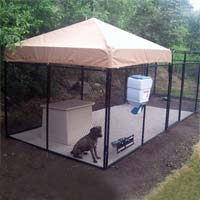 6' x 24' x 6' Ultimate Welded Wire Modular Kennel Dog Run