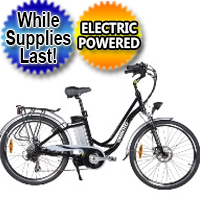 300 Watt Ladies Electric City E-Bike 6 Speed With Brakes