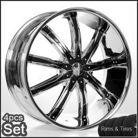 "22"" VC29 Land Rover/Range Rover Wheels & Tires Set - FX35 Rims. Fits on Every Range Rover, FX35 Incl. Sport & Turbo (All Years), Discovery(2002-Current), Infiniti FX35"