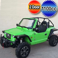 1100cc Green Utility Vehicle - 4x4 EFI - Compare To Oreion Reeper OR Duruxx 4 Stroke Off-Road & Street Legal UTV
