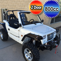 800cc White Utility Vehicle - 4x4 EFI - Compare To Oreion Reeper OR Duruxx 4 Stroke Off-Road & Street Legal UTV