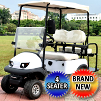 Small Electric Termite Golf Cart Mini Collapsable Four Seater Fully Loaded