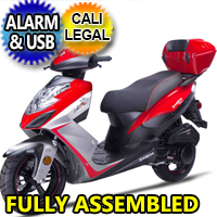 Znen 150cc 4 Stroke Gas Moped Scooter w/USB & Alarm - 7G-150