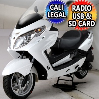 Amigo 150cc 4 Stroke 8.5hp Gas Moped Scooter w/USB MP3 Speakers & Alarm - Executive 150