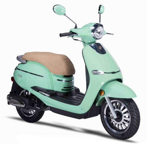 Znen 150cc 4 Stroke 8 5hp Gas Moped Scooter With Alarm & USB Adapter -  F10-150cc