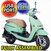 Znen 150cc 4 Stroke 8.5hp Gas Moped Scooter With USB Adapter - F10-150cc