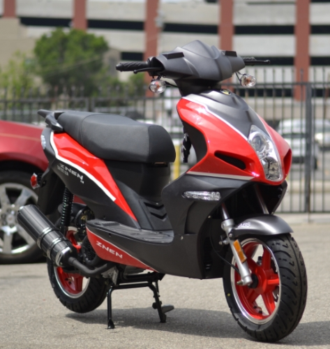 Znen 150cc 4 Stroke 8 5hp Gas Moped Scooter w/USB Adapter & Alarm -  F35-150cc