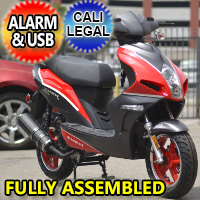 Znen 150cc 4 Stroke 8.5hp Gas Moped Scooter w/USB Adapter & Alarm - F35-150cc