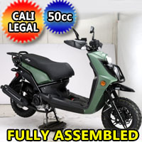 Amigo 50cc 8.5 HP Gas Moped Scooter - JAX-50