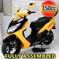 150cc Phenom 2021 Scooter with BlueTooth, USB & Speaker Fully Assembled Moped - PHENOM-150
