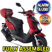 Znen 50cc 4 Stroke Gas Moped Scooter - Q50