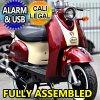 Znen 50cc Gas Moped Scooter With Alarm & Remote Start - Snail 50