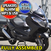 Znen 150cc 4 Stroke 8.5hp Gas Moped Scooter w/USB MP3 Speakers & Alarm - Vista150