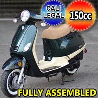 Znen 150cc 2 Tone 4 Stroke Gas Moped Scooter - ZN150-30-A-2-TONE-150cc