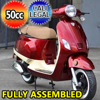 Znen 50cc 2 Tone 4 Stroke Gas Moped Scooter - ZN50-30-A-2-TONE-50cc