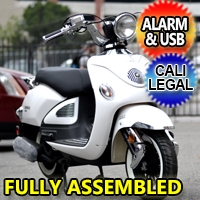 Znen 150cc 4 Stroke Air Cooled Gas Moped Scooter With Remote Start & Alarm - ZN150T-E5