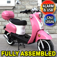 Amigo 50cc Lil Peanut Gas Moped Scooter With Alarm & Remote Start - Magari 50