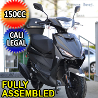 Znen 150cc 4 Stroke Gas Moped Scooter With USB Adapter - SS-150