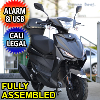 Znen 150cc 4 Stroke Gas Moped Scooter With USB Adapter & Alarm - SS-150