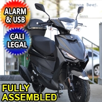 Znen 50cc 4 Stroke Gas Moped Scooter With USB Adapter & Alarm - SS-50