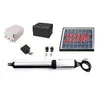 Solar Full Kit Swing Gate Opener for Single Swing Gates Up to 8-Feet Long and 650-Pound