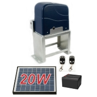 Solar Kit Sliding Gate Opener For Sliding Gates Up to 60-Feet Long and 2200-Pounds
