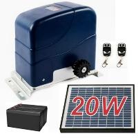 Solar Kit Sliding Gate Opener For Sliding Gates Up to 60-Feet Long and 1300-Pounds