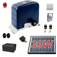 Solar Full Kit Sliding Gate Opener For Sliding Gates Up to 60-Feet Long and 1300-Pounds