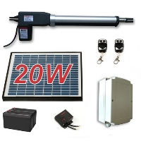 Solar Full Kit Swing Gate Opener for Single Swing Gates