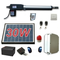 Solar Full Kit Swing Gate Opener for Single Swing Gates Up to 8-Feet Long and 600-Pounds