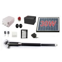 Solar Full Kit Swing Gate Opener for Single Swing Gates Up to 8-Feet Long and 650-Pounds