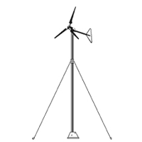 "Brand New 20 Ft 1.5"" Wind Generator Tower Wind Turbine Pole Kit"
