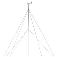"Brand New 30 Ft 1.5"" Wind Generator Tower Wind Turbine Pole Kit"
