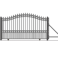 London Style Slide Steel Driveway Gate