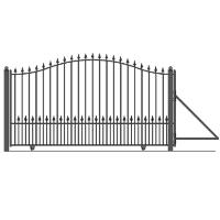 Munich Style Slide Steel Driveway Gate