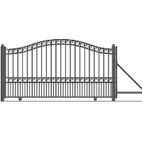 Paris Style Slide Steel Driveway Gate