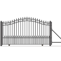 St Petersburg Style Slide Steel Driveway Gate 12' X 6 1/4'