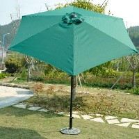 9' Outdoor Aluminum Patio Shade Umbrella With Tilt