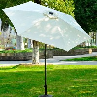 9' Outdoor Aluminum Patio Shade Umbrella With Tilt - Cream
