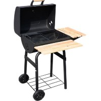 Charcoal BBQ Barbecue Backyard Patio Grill Smoker Cooker With Wheels
